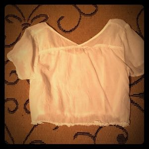 Cropped Free People cotton blouse